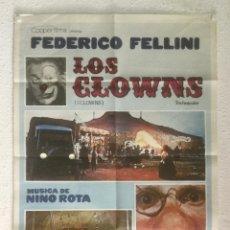 Cinéma: LOS CLOWNS - POSTER CARTEL ORIGINAL - FEDERICO FELLINI ANITA EKBERG ALVARO VITALI I CLOWNS. Lote 227064965