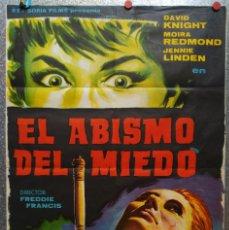 Cine: EL ABISMO DEL MIEDO. DAVID KNIGHT, MOIRA REDMOND, JENNIE LINDEN. AÑO 1964. Lote 126653099