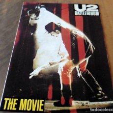 Cine: FOLLETOS DE MANO - U2 RATTLE ABD HUM - THE MOVIE. Lote 129429522