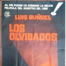 Cine: CARTEL DE CINE ORIGINAL PELICULA LOS OLVIDADOS LUIS BUÑUEL 1964 ILUSTRADOR JANO 100 X 70 CM. Lote 150570502