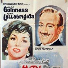 Cine: HOTEL PARADISO. ALEC GUINNESS-GINA LOLLOBRIGIDA. CARTEL ORIGINAL 1966. 70X100. Lote 126767711