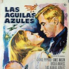 Cine: LAS ÁGUILAS AZULES. GEORGE PEPPARD-URSULA ANDRES-JAMES MASON. CARTEL ORIGINAL 1966. 70X100. Lote 126767823