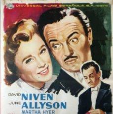 Cine: UN MAYORDOMO ARISTÓCRATA. DAVID NIVEN-HENRY KOSTER. CARTEL ORIGINAL 1959 70X100. Lote 127118927