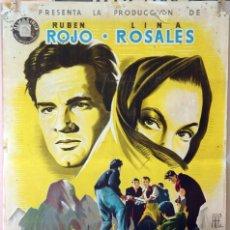 Cine: SIERRA MALDITA. RUBEN ROJO Y LINA ROSALES- ANTONIO DEL AMO. CARTEL ORIGINAL 70X100. Lote 127119023