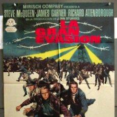 Cinema: YU33D LA GRAN EVASION STEVE MCQUEEN POSTER ORIGINAL ESPAÑOL 70X100 ESTRENO. Lote 127365575