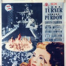 Cine: EL HIJO PRÓDIGO. LANA TURNER-EDMUND PURDOM-RICHARD THORPE. CARTEL ORIGINAL 1958. 70X100. Lote 127442403