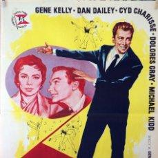 Cine: SIEMPRE HACE BUEN TIEMPO. GENE KELLY-CYD CHARISE. CARTEL ORIGINAL 1960. 70X100. Lote 127442703