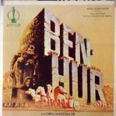 Cine: BEN HUR. CHARLTON HESTON-JACK HAWKINS-WILLIAM WYLWE. CARTEL ORIGINAL 1980 70X100. Lote 127442963