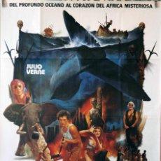 Cine: LOS DIABLOS DEL MAR. JULIO VERNE CARTEL ORIGINAL 70X100. Lote 127443467