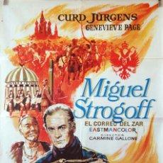 Cine: MIGUEL STROGOFF. CARMINE GALLONE- CURD JURGENS. CARTEL ORIGINAL 70X100. Lote 127443803