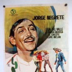Cine: ALLÁ EN EL RANCHO GRANDE (1949) JORGE NEGRETE. CARTEL ORIGINAL DE LA PELÍCULA 70X100CMS.. Lote 127738483