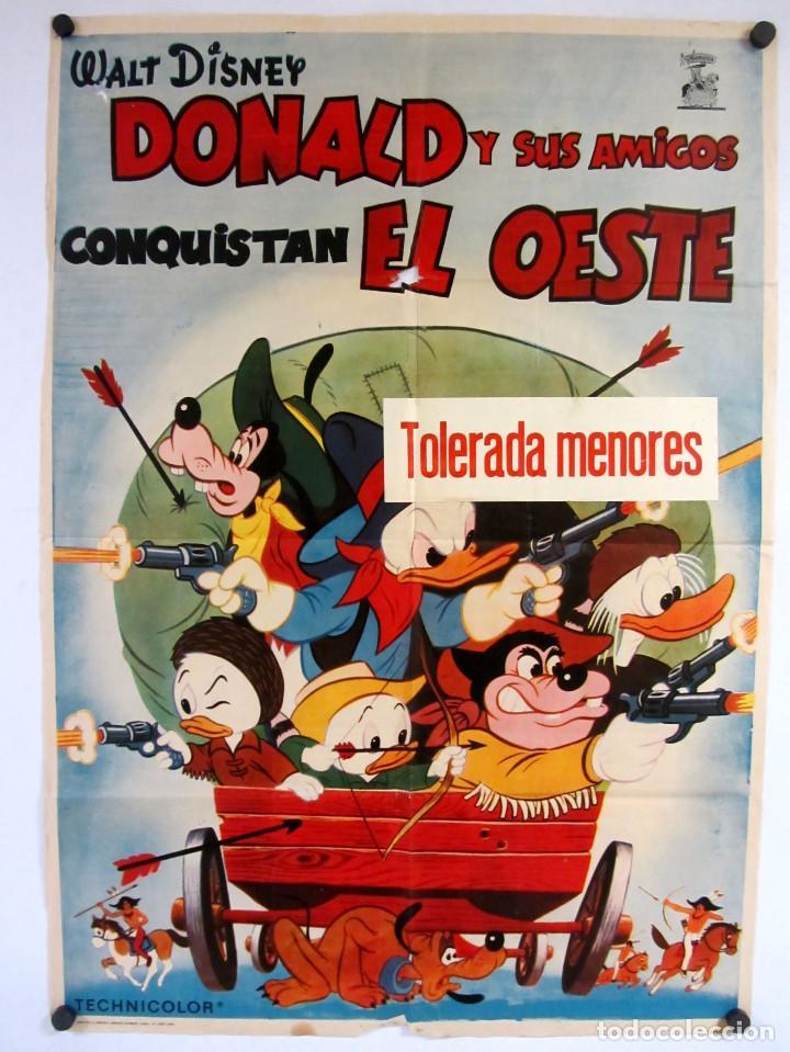 DONALD Y SUS AMIGOS CONQUISTAN EL OESTE(1966)WALT DISNEY. CARTEL ORIGINAL DE LA PELÍCULA. 70X100CMS. (Cine - Posters y Carteles - Infantil)