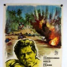 Cine: EL INFIERNO DE MEKONG (1964) GIANFRANCO PAROLINI. CARTEL ORIGINAL DE LA PELÍCULA 100X70CMS.. Lote 127741019