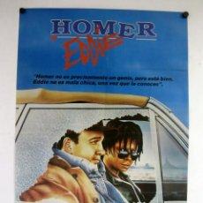 Cine: HOMER Y EDDIE (1989) JAMES BELUSHI, WHOOPI GOLDBERG. CARTEL ORIGINAL DE LA PELÍCULA 100X70 CMS.. Lote 127742827