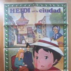 Cinema: CARTEL CINE, HEIDI EN LA CIUDAD, 1977, HELENA, BASADA EN EL LIBRO DE JUANA SPYRI, C1392. Lote 127766259