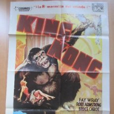 Cine: CARTEL CINE, KING KONG, FAY WRAY, ROBT ARMSTRONG, BRUCE CABOT, 1982, C1396. Lote 127768055
