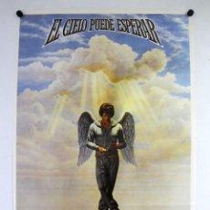Cine: EL CIELO PUEDE ESPERAR (1978) WARREN BEATTY, JULIE CHRISTIE. CARTEL ORIGINAL DEL ESTRENO 100X70 CMS.. Lote 127834647