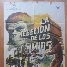 Cine: CARTEL CINE, LA REBELION DE LOS SIMIOS, RODDY MCDOWALL, DON MURRAY, 1973, C1419. Lote 127936567