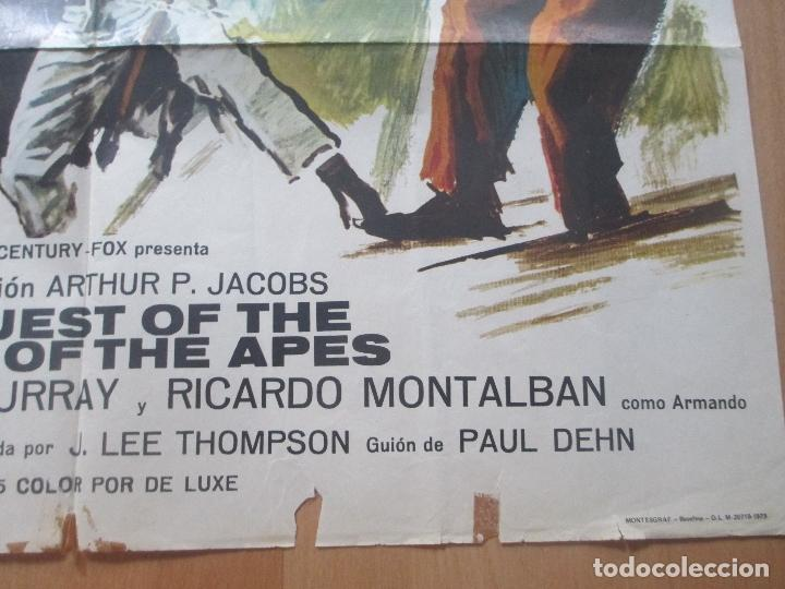 Cine: CARTEL CINE, LA REBELION DE LOS SIMIOS, RODDY MCDOWALL, DON MURRAY, 1973, C1419 - Foto 2 - 127936567