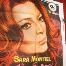 Cine: VARIETES SARA MONTIEL, VICENTE PARRA PÓSTER ORIGINAL DE 1980. Lote 194185817