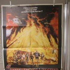 Cine: CARTEL CINE ORIG EL BOSQUE EN LLAMAS (1977) 70X100 / ERNEST BORGNINE / VERA MILES. Lote 128101339