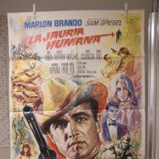 Cine: CARTEL CINE ORIG LA JAURIA HUMANA (1966) 70X100 / MARLON BRANDO / JANE FONDA / MAC. Lote 128102851