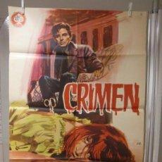 Cine: CARTEL CINE ORIG CRIMEN (1964) 70X100 / FERNANDO SANCHO / SONIA BRUNO / JANO. Lote 128105259