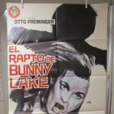 Cine: CARTEL CINE ORIG EL RAPTO DE BUNNY LAKE (1965) 70X100 / OTTO PREMINGER / LAURENCE OLIVIER / JANO. Lote 128106147