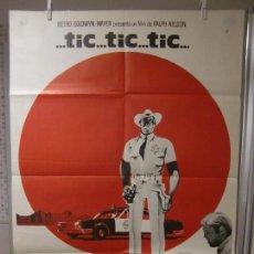 Cine: CARTEL CINE ORIG TIC TIC TIC (1970) 70X100 / JIM BROWN / GEORGE KENNEDY. Lote 128106587