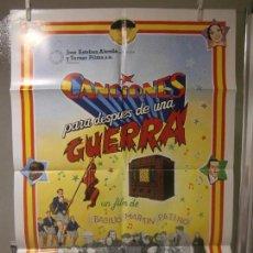 Cine: CARTEL CINE ORIG CANCIONES PARA DESPUES DE UNA GUERRA (1976) 60X90 / BASILIO MARTÍN PATINO. Lote 128107235