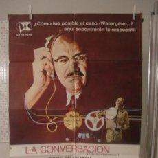 Cine: CARTEL CINE ORIG LA CONVERSACION (1974) 70X100 / FRANCIS FORD COPPOLA / GENE HACKMAN. Lote 128108043