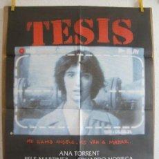 Cine: CARTEL CINE ORIG TESIS (1996) 70X100 / ALEJANDRO AMENÁBAR. Lote 128112159