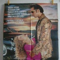 Cine: CARTEL CINE ORIG CORAZON SALVAJE (1990) 70X100 / DAVID LYNCH / NICHOLAS CAGE / LAURA DERN. Lote 128174563