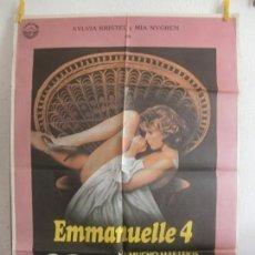 Cine: CARTEL CINE ORIG EMMANUELLE 4 (1984) 70X100 / SYLVIA KRISTEL / MIA NYGREN. Lote 194728840