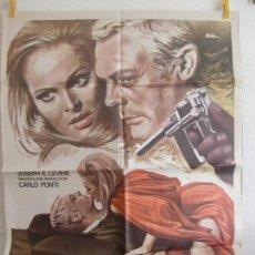 Cine: CARTEL CINE ORIG LA VICTIMA Nº 10 (1965) 70X100 / MARCELLO MASTROIANNI / URSULA ANDRESS. Lote 128178935
