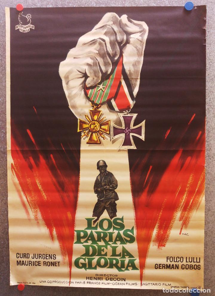 LOS PARIAS DE LA GLORIA. CURD JÜRGENS, MAURICE RONET - SEGUNDA GUERRA MUNDIAL - 1964 (Cine - Posters y Carteles - Bélicas)