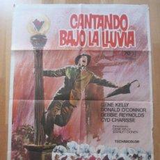 Cine: CARTEL CINE, CANTANDO BAJO LA LLUVIA, GENE KELLY, DONALD O´CONNOR, 1974, C1426. Lote 128255487