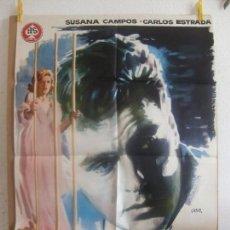 Cine: CARTEL CINE ORIG ENSAYO GENERAL PARA LA MUERTE (1962) 70X100 / SUSANA CAMPOS / CARLOS ESTRADA / JANO. Lote 128274719