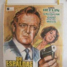 Cine: CARTEL CINE ORIG DE ESPALDAS A SCOTLAND YARD (1965) 70X100 / SAMUEL GALLU. Lote 128275447