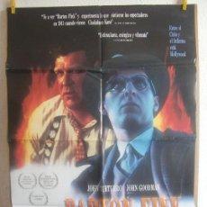 Cine: CARTEL CINE ORIG BARTON FINK (1991) 70X100 / JOEL COEN / ETHAN COEN / JOHN TURTURRO. Lote 128278467