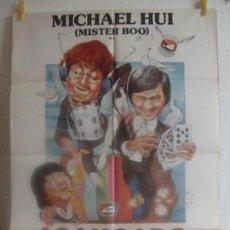 Cine: CARTEL CINE ORIG LOS LIOS DE MR BOO (1978) 70X100 / MICHAEL HUI / RICKY HUI. Lote 128279547