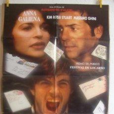 Cine: CARTEL CINE ORIG SENZA PELLE - SIN PIEL - (1994) 70X100 / ANNA GALIENA. Lote 128279771