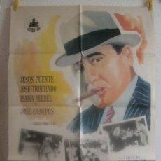 Cine: CARTEL CINE ORIG EL REGRESO DE AL CAPONE (1969) 70X100 / JESÚS PUENTE / JOSÉ TRUCHADO. Lote 128280447