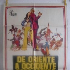 Cine: CARTEL CINE ORIG DE ORIENTE A OCCIDENTE PARA MATAR (1972) 70X100 / STANLEY BAKER / DONALD PLEASENCE. Lote 128282719
