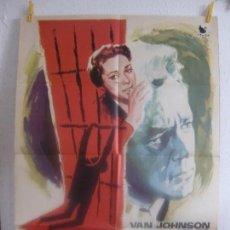 Cine: CARTEL CINE ORIG EL SECRETO DE USHAWS-52 (1959) 70X100 / VAN JOHNSON / VERA MILES,. Lote 128282987