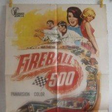 Cine: CARTEL CINE ORIG FIREBALL 500 (1966) 70X100 / FRANKIE AVALON / ANNETTE FUNICELLO. Lote 128283211