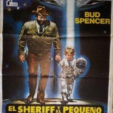 Cine: ORIGINAL ARTEL DE CINE,EL SHERIF Y EL PEQUEÑO EXTRATERESTRE,1980. Lote 128286247