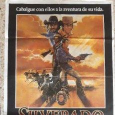 Cine: ORIGINAL CARTEL DE CINE,SILVERADO,1985. Lote 128286803