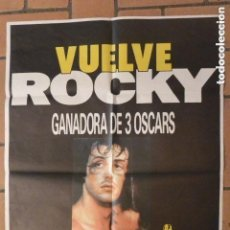 Cine: CARTEL POSTER CINE VUELVE ROCKY. Lote 128389615