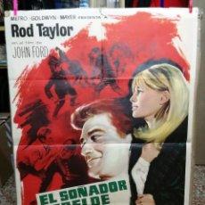 Cine: EL SOÑADOR REBELDE ROD TAYLOR JOHN FORD JULIE CHRISTIE POSTER ORIGINAL ESPAÑOL 70X100 ESTREN. Lote 128426603